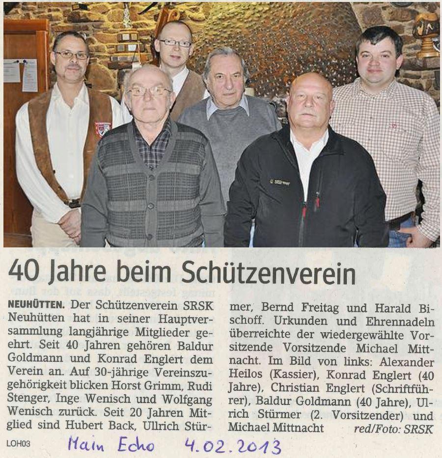 40 Jahre Schützenverein