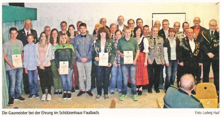 Gaumeisterschaftsafeier Faulbach 2015