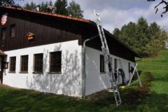 Arbeitseinsatz Fassade Schützenhaus